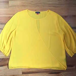 Vince Camuto yellow blouse